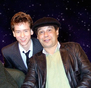 Craig Charles with Ciaran Brown at Memorabilia in November 2007