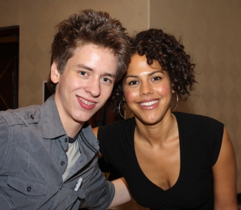Lenora Crichlow with Ciaran Brown