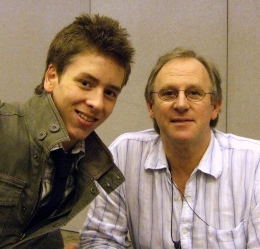 Peter Davison with Ciaran Brown in 2008
