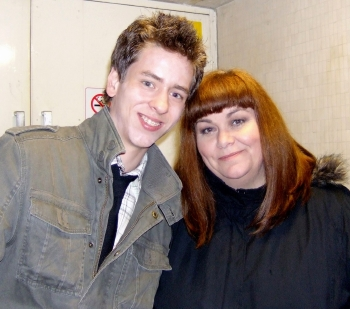 Dawn French with Ciaran Brown