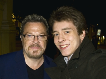 Eddie Izzard with Ciaran Brown