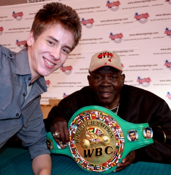 Emile Griffith with Ciaran Brown