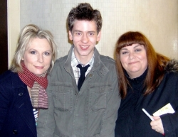 Ciaran Brown with Dawn French and Jennifer Saunders