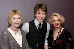 Ciaran Brown with actresses Susannah York & Tippi Hedren