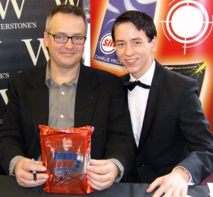 Ciaran Brown with Charlie Higson at the 'Double Or Die' Launch
