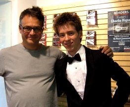 Ciaran Brown with Charlie Higson at Borders in Cambridge in September 2008