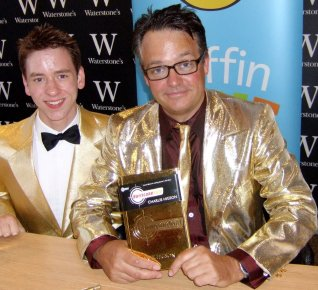 Ciaran Brown with Charlie Higson at Waterstones in Piccadilly in September 2007