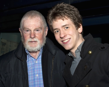 Sir Derek Jacobi with Ciaran Brown