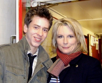 Jennifer Saunders with Ciaran Brown
