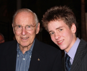 Jim Lovell with Ciaran Brown