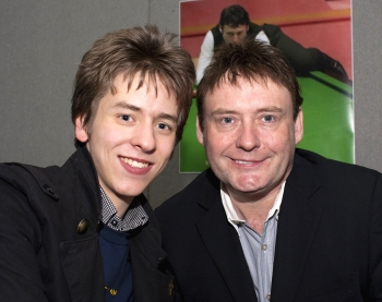 Jimmy White with Ciaran Brown