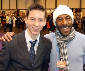 Danny John-Jules with Ciaran Brown