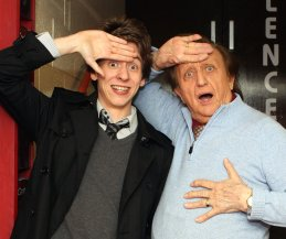 Ciaran Brown with Ken Dodd after 'The Christmas Happiness Show' in Nottingham 2009