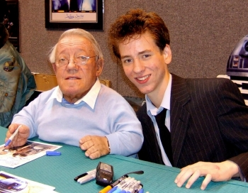 Kenny Baker with Ciaran Brown