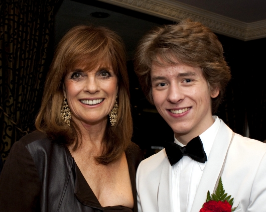 Linda Gray with Ciaran Brown