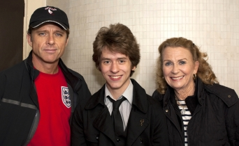 Maxwell Caulfield, Ciaran Brown & Juliet Mills at the Theatre Royal, Nottingham  in September 2010