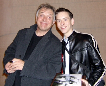 Ciaran Brown with Rik Mayall