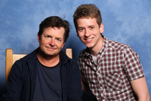 Michael J. Fox with Ciaran Brown