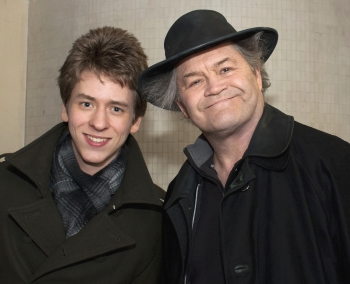Micky Dolenz with Ciaran Brown