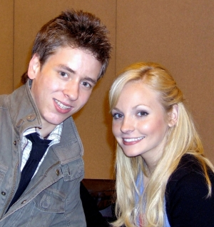 Georgia Moffett with Ciaran Brown at the London Film & Comic Convention held at Earl's Court, London, in 2008