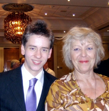 Ciaran Brown with Margaret Nolan