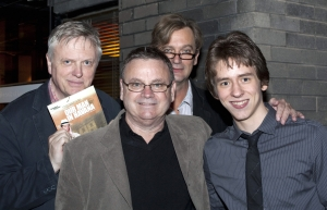 Philip Franks, Norman Pace & Simon Shepherd with Ciaran Brown at the Nottingham Playhouse