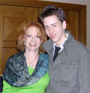 Ciaran Brown with Luciana Paluzzi