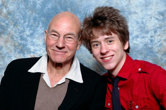 Patrick Stewart with Ciaran Brown