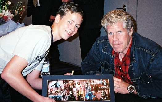 Ciaran Brown with Ron Perlman