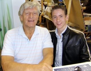 Ciaran Brown with Dave Prowse
