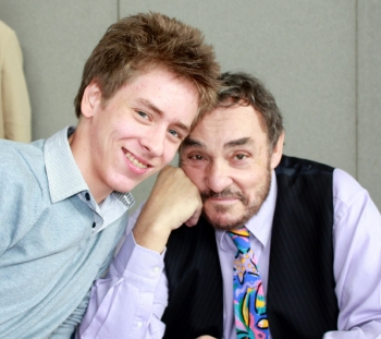 Ciaran Brown with John Rhys-Davies