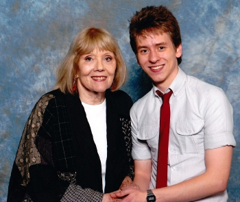 Dame Diana Rigg with Ciaran Brown