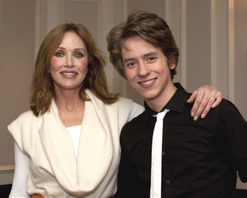 Tanya Roberts with Ciaran Brown