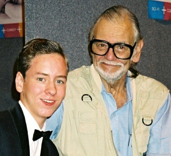 Ciaran Brown with George Romero