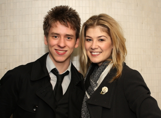 Rosamund Pike with Ciaran Brown