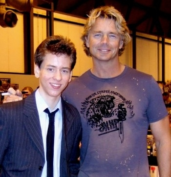 Ciaran Brown with John Schneider