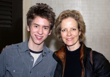 Ciaran Brown with Jenny Seagrove