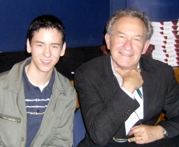Ciaran Brown with Simon Schama