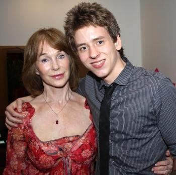 Shirley Anne Field with Ciaran Brown