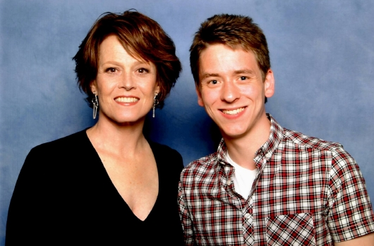 Sigourney Weaver with Ciaran Brown