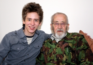 Ciaran Brown with Alan Sillitoe, in Leicestershire May 2009