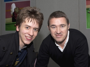 Stephen Hendry with Ciaran Brown