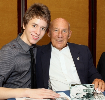 Ciaran Brown with Sir Stirling Moss