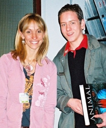 Ciaran Brown with Michaela Strachan