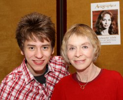 Ciaran Brown with Susannah York at Autographica in May 2010