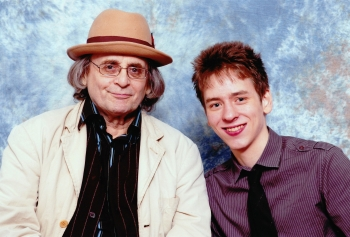 Sylvester McCoy with Ciaran Brown