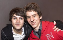 Ciaran Brown with Tommy Knight who plays Luke Smith in 'The Sarah Jane Adventures'