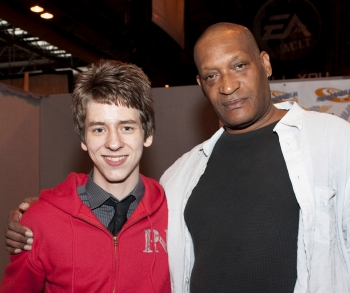 Tony Todd with Ciaran Brown