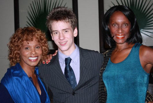 Ciaran Brown with Trina Parks and Gloria Hendry at Autographica in London, October 2008