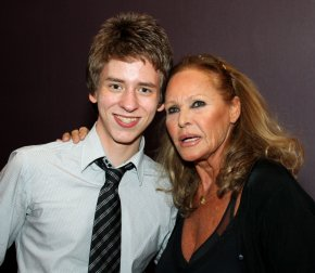 Ciaran brown with ursula andress at the hilton metropole hotel in
